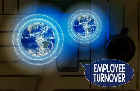 Text sign showing Employee Turnover. Business photo showcasing the percentage of workers who leave an organization