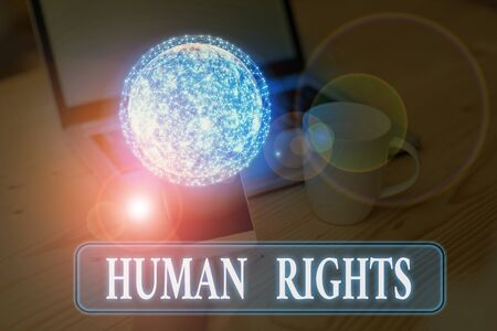 Text sign showing Huanalysis Rights. Business photo text the equality of fighting for your rights individuality