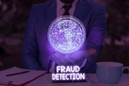 Writing note showing Fraud Detection. Business concept for identification of actual or expected fraud to take place