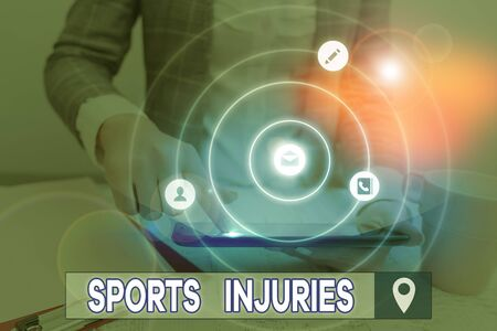 Handwriting text writing Sports Injuries. Conceptual photo kinds of injury that occur during sports or exercise