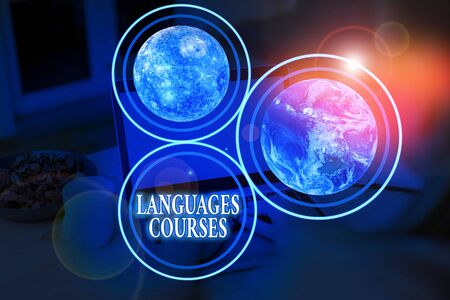 Handwriting text Languages Courses. Conceptual photo set of classes or a plan of study on a foreign language
