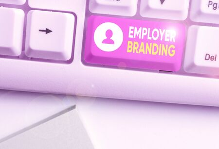 Handwriting text writing Employer Branding. Conceptual photo process of articulating your company unique message Stock Photo