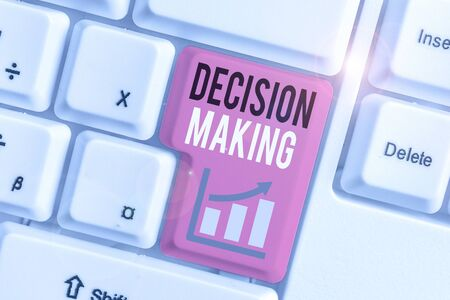 Word writing text Decision Making. Business photo showcasing process of making decisions especially important ones Stock fotó