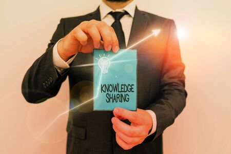 Word writing text Knowledge Sharing. Business photo showcasing deliberate exchange of information that helps with agility