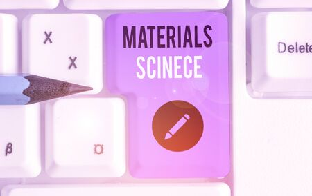 Text sign showing Materials Science. Business photo text interdisciplinary field involving the properties of matter Stock fotó