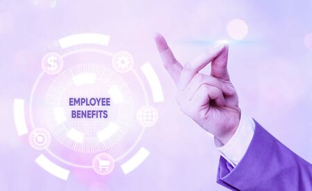 Handwriting text Employee Benefits. Conceptual photo indirect and noncash compensation paid to an employee