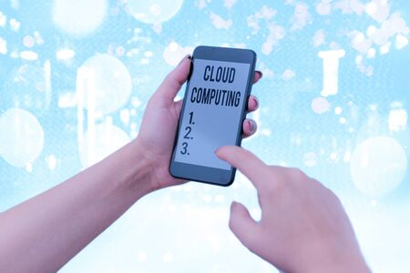 Word writing text Cloud Computing. Business photo showcasing storing and accessing data and programs over the Internet