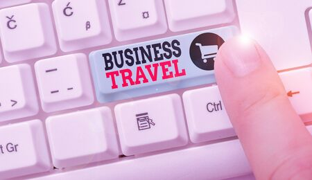 Conceptual hand writing showing Business Travel. Concept meaning travel on behalf of a company to one or more destinations