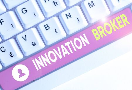 Conceptual hand writing showing Innovation Broker. Concept meaning help to mobilise innovations and identify opportunities