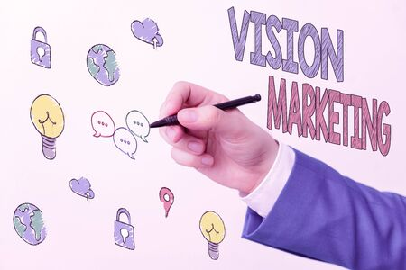 Handwriting text writing Vision Marketing. Conceptual photo outlining how they plan to change and improve in the future