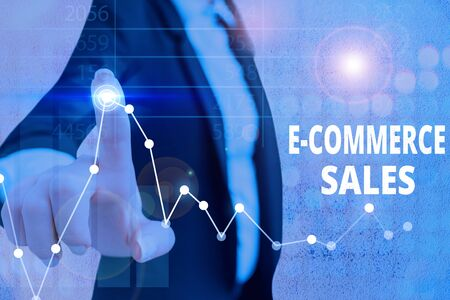 Handwriting text E Commerce Sales. Conceptual photo activity of buying or selling of products on online service