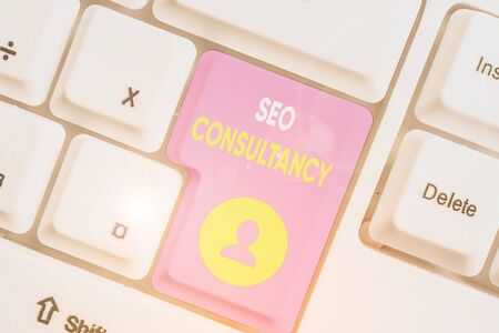 Word writing text Seo Consultancy. Business photo showcasing specialize in evaluating an organization website Stock Photo