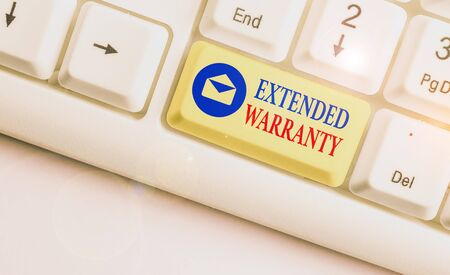 Text sign showing Extended Warranty. Business photo text contract which gives a prolonged warranty to consumers Banco de Imagens