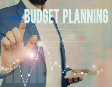 Word writing text Budget Planning. Business photo showcasing process of constructing a budget and then utilizing it