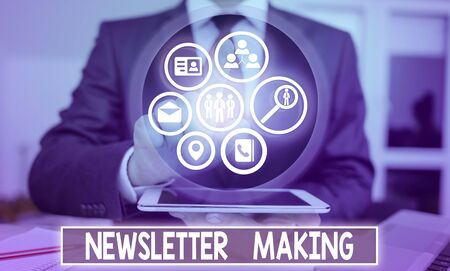 Handwriting text Newsletter Making. Conceptual photo printed report containing news or activities of a business