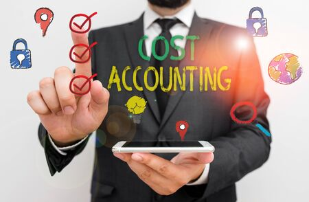 Text sign showing Cost Accounting. Business photo text the recording of all the costs incurred in a business