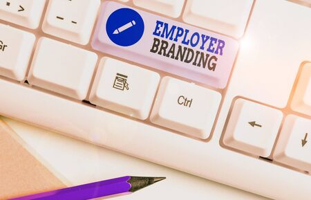 Word writing text Employer Branding. Business photo showcasing process of articulating your company unique message Stock Photo