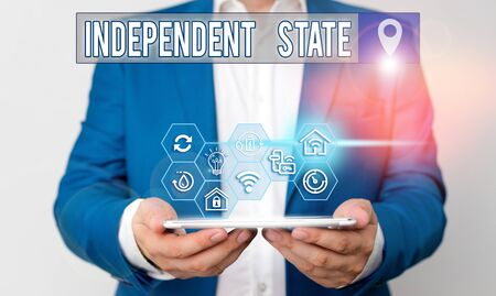 Handwriting text writing Independent State. Conceptual photo ability of the state to be independent and have autonomy