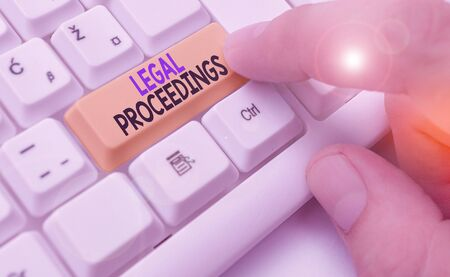 Handwriting text Legal Proceedings. Conceptual photo procedure instituted in a court of law to acquire benefit