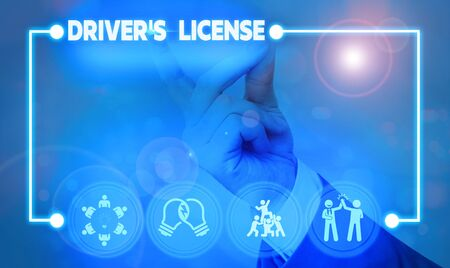 Handwriting text writing Driver S License. Conceptual photo a document permitting a demonstrating to drive a motor vehicle
