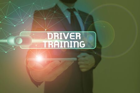 Writing note showing Driver Training. Business concept for course of study that teaches how to drive a vehicle