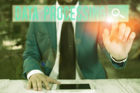 Word writing text Data Processing. Business photo showcasing collection and manipulation of items of data to produce
