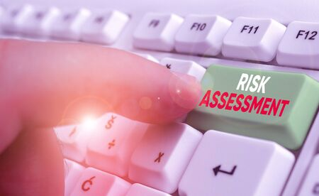 Word writing text Risk Assessment. Business photo showcasing estimation of the levels of risks involved in a situation