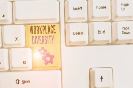 Word writing text Workplace Diversity. Business photo showcasing environment that accepts each individual differences