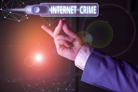 Word writing text Internet Crime. Business photo showcasing crime or illegal online activity committed on the Internet