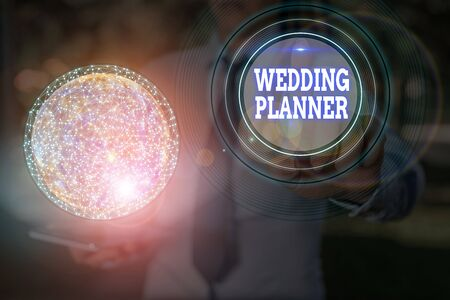 Text sign showing Wedding Planner. Business photo text someone who plans and organizes weddings as a profession