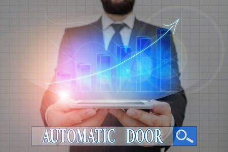 Handwriting text writing Automatic Door. Conceptual photo opens automatically when sensing the approach of person