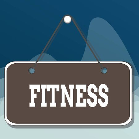 Writing note showing Fitness. Business concept for the state of health and wellbeing and the ability to perform Memo reminder empty board attached background rectangle Reklamní fotografie