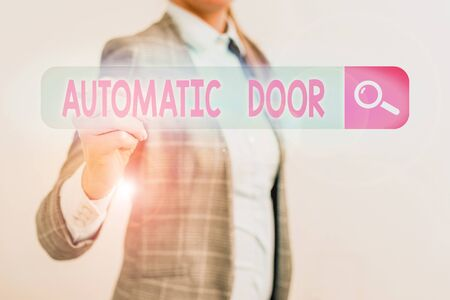 Conceptual hand writing showing Automatic Door. Concept meaning opens automatically when sensing the approach of person