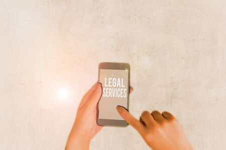 Conceptual hand writing showing Legal Services. Concept meaning any services involving legal or law related matters
