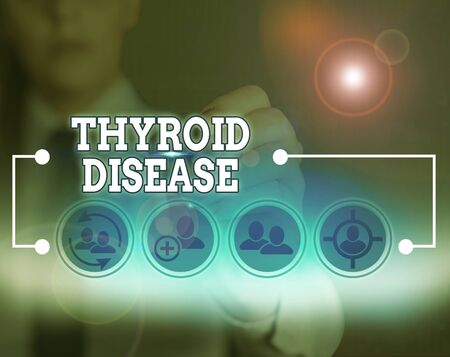 Word writing text Thyroid Disease. Business photo showcasing the thyroid gland fails to produce enough hormones Stock fotó