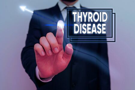 Handwriting text Thyroid Disease. Conceptual photo the thyroid gland fails to produce enough hormones