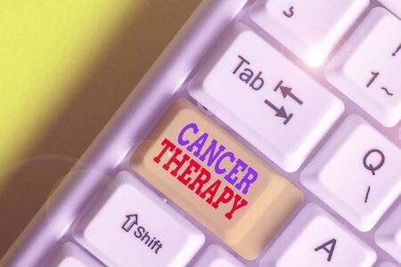 Handwriting text Cancer Therapy. Conceptual photo treatment of cancer in a patient often with surgery