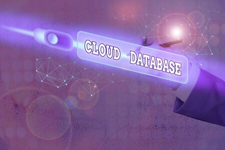 Text sign showing Cloud Database. Business photo text optimized or built for a virtualized computing environment