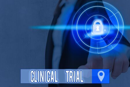 Text sign showing Clinical Trial. Business photo text trials to evaluate the effectiveness and safety of medication
