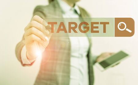 Text sign showing Target. Business photo text demonstrating object or place selected as the aim of attack Life goal