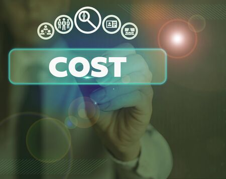 Word writing text Cost. Business photo showcasing The amount that usualy paid for a item you buy or hiring a demonstrating
