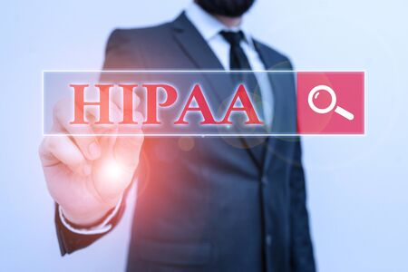 Handwriting text Hipaa. Conceptual photo Acronym stands for Health Insurance Portability Accountability Stock Photo