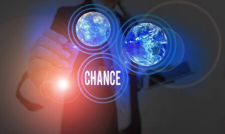 Text sign showing Chance. Business photo showcasing another opportunity to achieve or acquire something you want