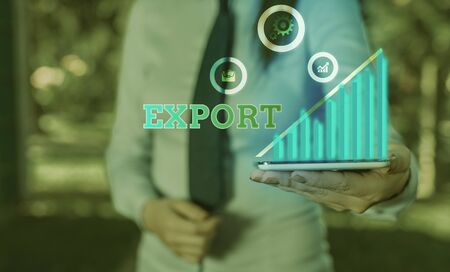 Writing note showing Export. Business concept for send goods or services to another country for sale Mass Production Zdjęcie Seryjne - 140275056
