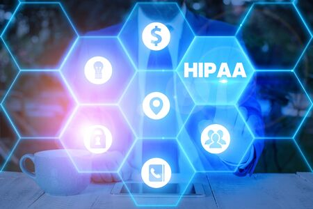 Word writing text Hipaa. Business photo showcasing Acronym stands for Health Insurance Portability Accountability