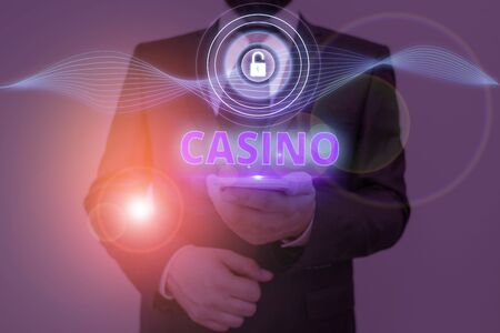 Text sign showing Casino. Business photo text a building where games especially roulette and card games are played