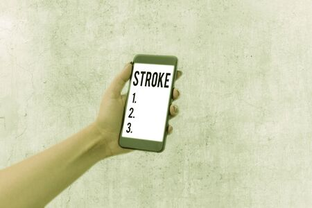Handwriting text Stroke. Conceptual photo Patients losing consciousness due to poor blood flow medical
