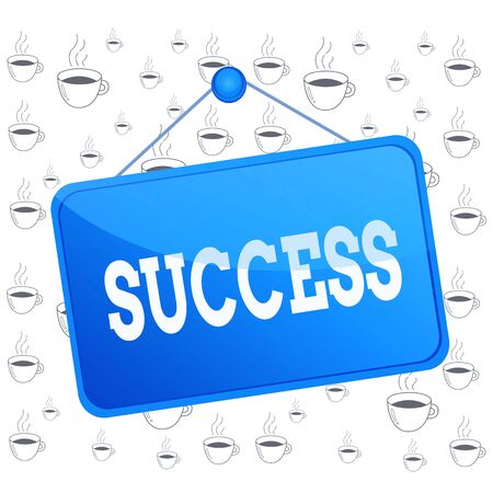 Writing note showing Success. Business concept for accomplishment aim purpose good or bad outcome of undertaking Memo reminder empty board attached background rectangle