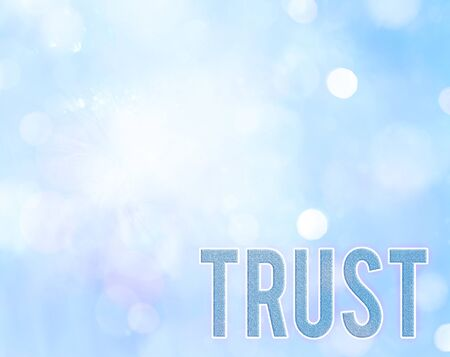 Handwriting text writing Trust. Conceptual photo firm belief in reliability truth or ability someone something Family Zdjęcie Seryjne