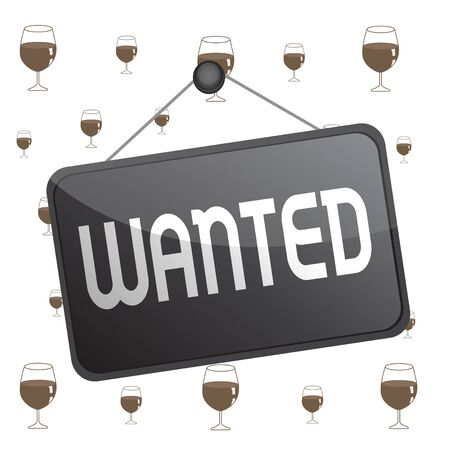 Text sign showing Wanted. Business photo text Desire something Wish want Hoping for Somebody being searched Colored memo reminder empty board blank space attach background rectangle